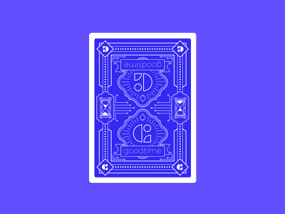 Goodtime Playing Card line work design ai illustrator godfrey silas card swag scheduling illustration goodtime playing card