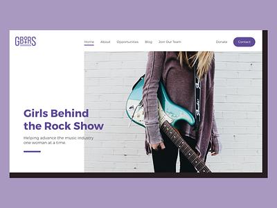 GBTRS Home Page Redesign graphic design user interface homepage web design web ui design