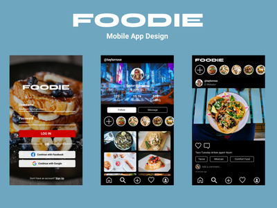 Foodie Mobile App mobile app user interface design designlab