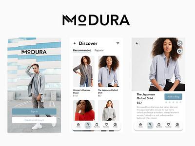 Modura App product ux ui user interface design designlab