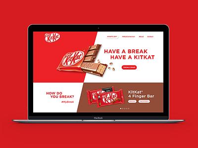 ThirtyUI Challenge #1 - KitKat Homepage Redesign product design web homepage adobe xd web design ui ux user interface user experience thirty ui challenge