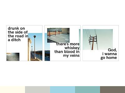 Sprained Ankle Triptych graphic design color palette julien baker sprained ankle pastel instagram triptych