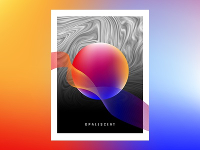 Opalescent typography print mashup artwork abstract graphic design gradient poster experimental
