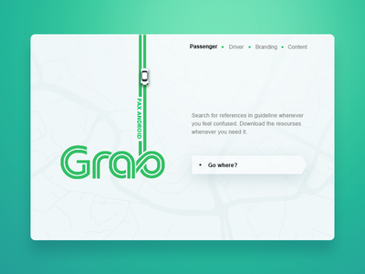 Grab guideline website landing page - Daily UI #003