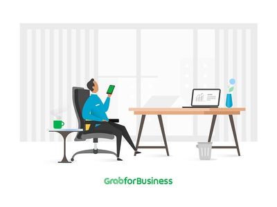 Grab4business_Chill in office