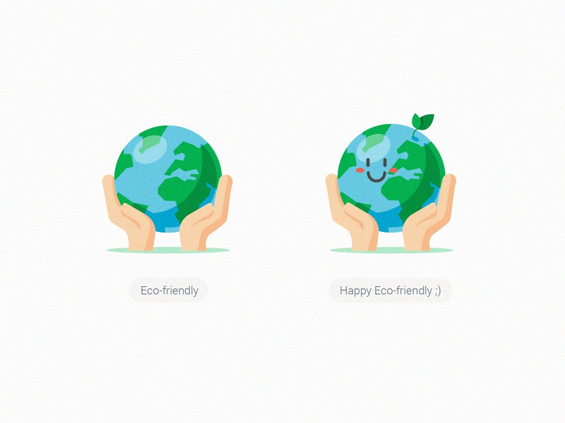 GrabFood Category Icons_Eco-friendly illustration icon green grabgreen grabfood smile hands protect leaves environment eco-friendly earth