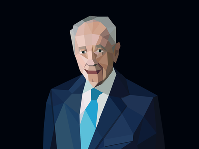 Low-Poly Shimon Peres Portrait low-poly lo-poly poli israel portrait