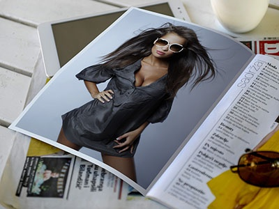 Advertising Space in Newspapers and Magazines – Mockup