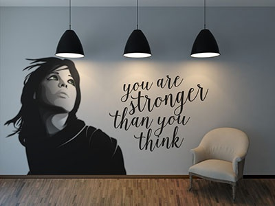 Wall Art mock