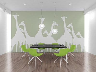 Freebie Wall Art Mockup chairs tables floor interior replace mockup mock art wall