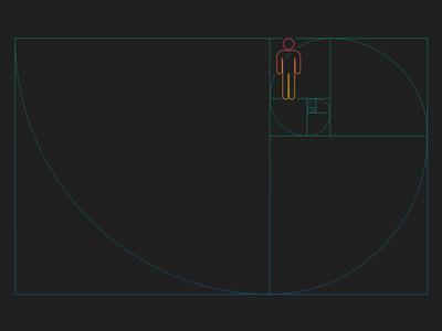 Dimension golden ratio graphic design