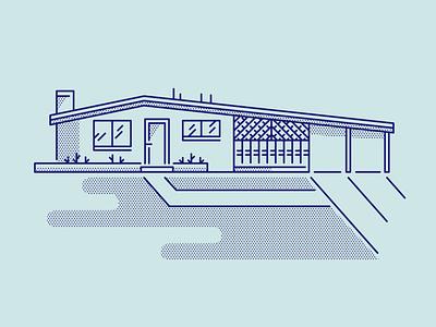House modern home line house illustration house