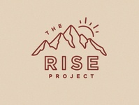 The Rise Project graphic design design illustration brand branding logo identity sun rise the rise project sunrise mountains