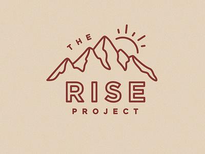 The Rise Project graphic design design illustration brand branding logo identity sun rise the rise project sunrise mountains