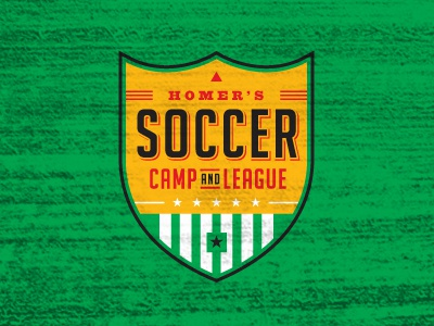 camp + league soccer league camp badge emblem patch shield sports logo identity