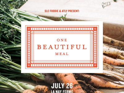 One Beautiful Meal farm flyer poster pattern