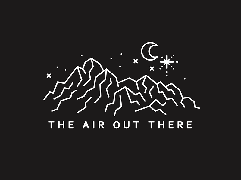 The Air Out There illustration lululemon the air out there night moon mountains