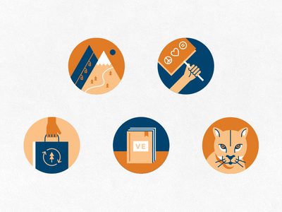 One-Sentence Stories reusable bag recycle ski mountains protest book mountain lion badges illustration icons park city magazine