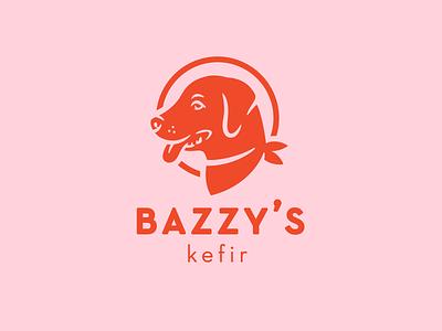 Kefir treat labrador yogurt kefir dog design logo identity illustration