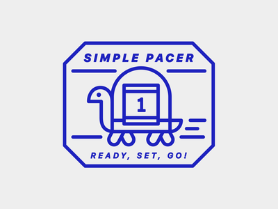 Simple Pacer—Badge logo app design pacer pace race tortoise turtle stamp brand identity illustration badge
