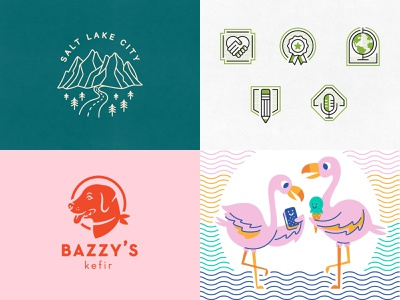 2018 branding design salt lake city icon stamp logo identity illustration