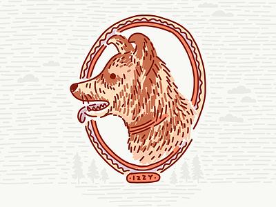 Izzy heeler red heeler cattle dog australian cattle dog dog illustration