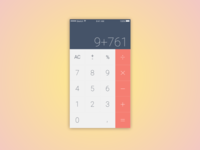 Mobile Calculator- DailyUI #004