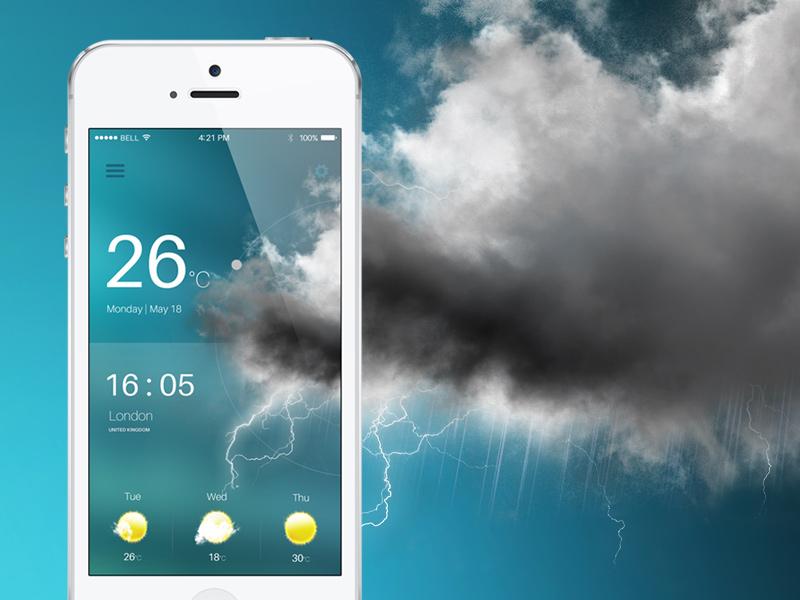 Weather App app weather storm bad iphone
