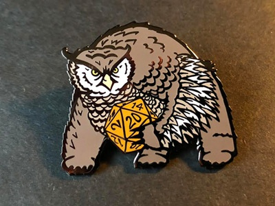 Owlbear Enamel Pin illustration game game art dnd5e monster bear owl owlbear dungeons and dragons dungeons dungeons  dragons lapel pin lapelpin enamel enamel pin enamelpin pin