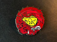 Red Dragon Enamel Pin
