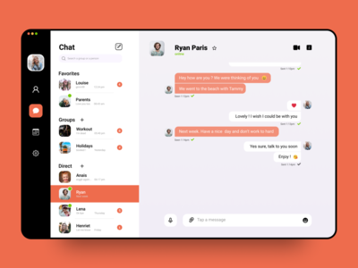 Direct Messaging App message group favorite uiux interactive talk notification send userinterface webdesign website web chat interaction interface app dailyui ux ui design