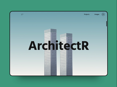 Architecture Blog header post blog animation animated layout grid clean web design web architecture typography interaction interface app dailyui ui ux design