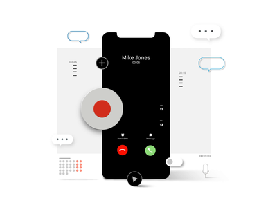 TapeACall features ui design animation call recorder