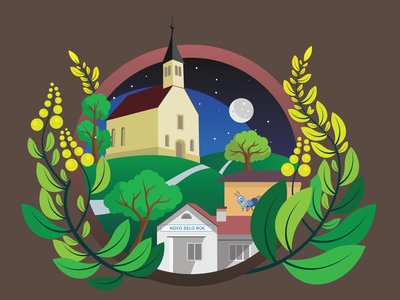 My village village design illustration