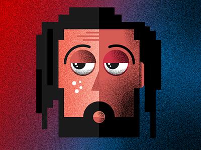 The face face portrait illustration