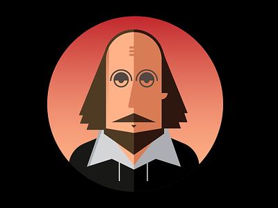 Shakespeare illustration portrait face design steampunk shakespeare
