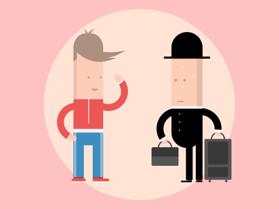 Meet and greet ui people characters illustration