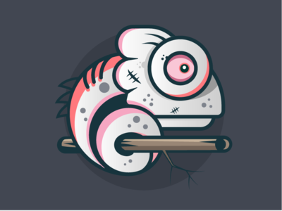 SpoofCard chameleon branding vector spoofcard halloween illustration