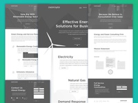 Energy Consulting Firm Website Wireframe V2