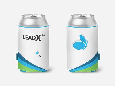 LeadX Koozie mockup multimedia designer brand collateral brand design product branding creative inspiration koozie mockup graphic designer