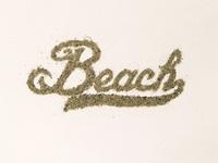 Sand Typography