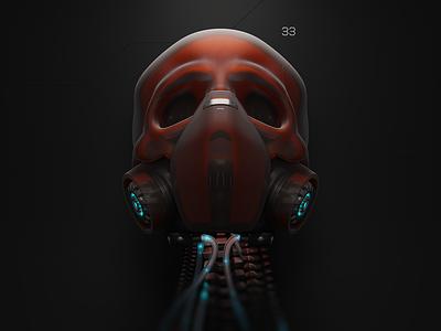 Protection blendercycles cyclesrender blender3d gas mask skull