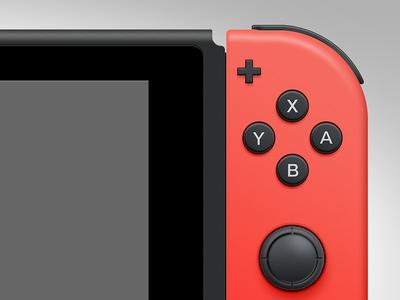 Nintendo Switch PSD Freebie paths vector ui gui freebie free psd switch nintendo