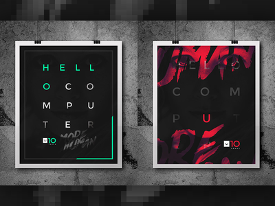 HC10 poster graphic design typography