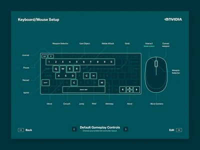 PC KBD/Mouse Button Setup ui game keyboard