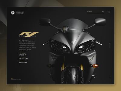 Yamaha R1 yamaha website ui