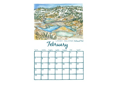 National Park Edition 2 Calendar edition 2 2016 calendar national parks february 100 years nps lassen volcanic