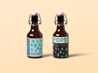 Popsi- Bottled Water Mockup packagedesign packaging logo vector app branding illustration design colorado boulder accessories waterbottle water