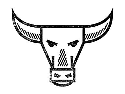 A Random Bull design illustration animal bull icon grunge graphic design vector