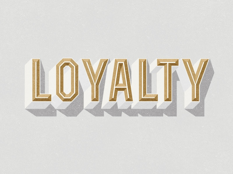 Loyalty typography type lettering design graphic design